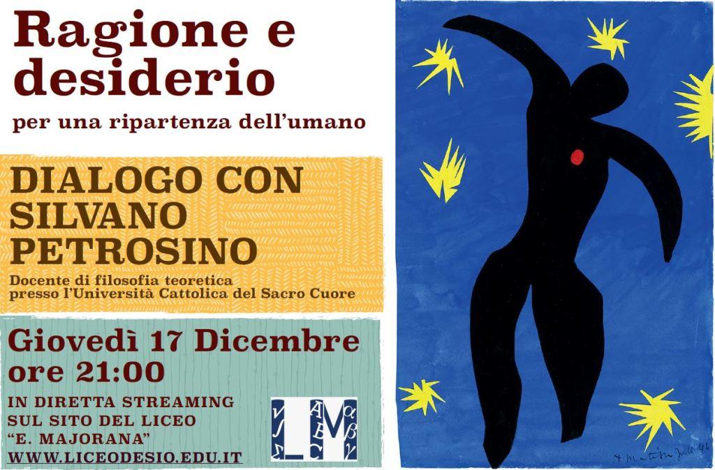 Serata Ragione e Desiderio dialogo con Silvano Petrosino